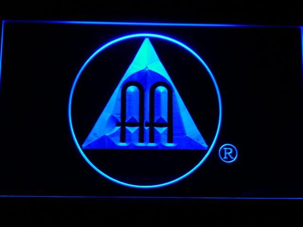 Alcoholics Anonymous AA Logo LED Neon Sign a221 - Blue
