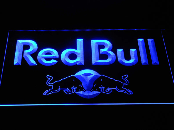 Red Bull Wordmark LED Neon Sign a229 - Blue