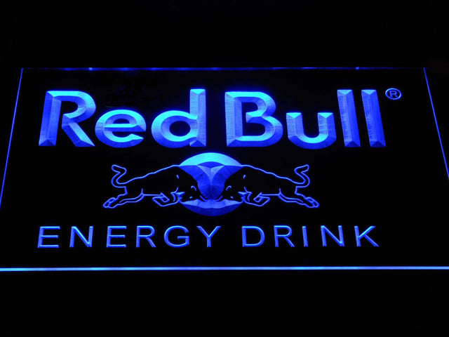Red Bull Energy Drink LED Neon Sign a230 - Blue