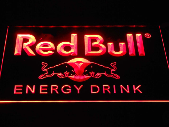 Red Bull Energy Drink LED Neon Sign a230 - Red