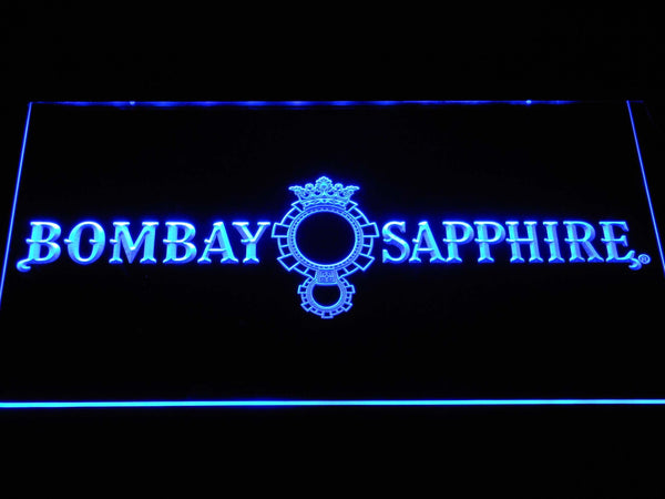 Bombay Sapphire British Gins LED Neon Sign a240 - Blue
