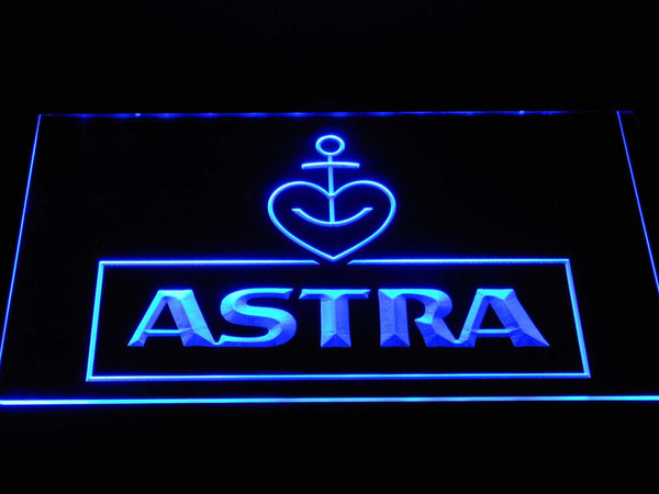 Astra Beer LED Neon Sign a245 - Blue