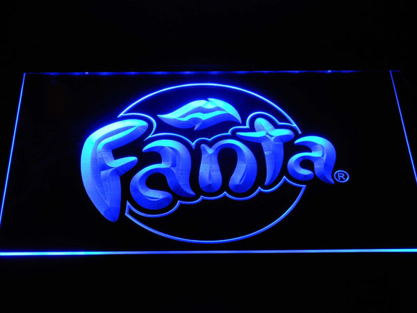 Fanta Soda Drink LED Neon Sign a246 - Blue