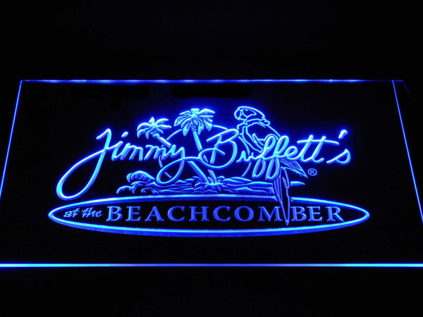 Jimmy Buffett's Beachcomber LED Neon Sign a265 - Blue