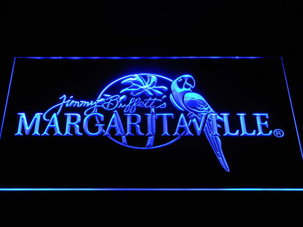 Jimmy Buffett's Margaritaville LED Neon Sign a267 - Blue
