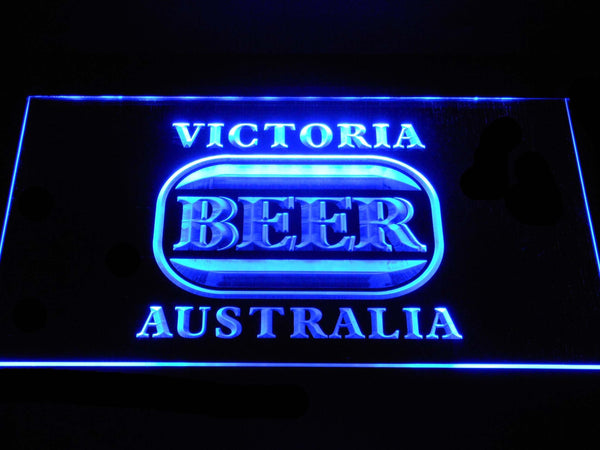 Victoria Bitter Australia  Beer LED Neon Sign a273 - Blue