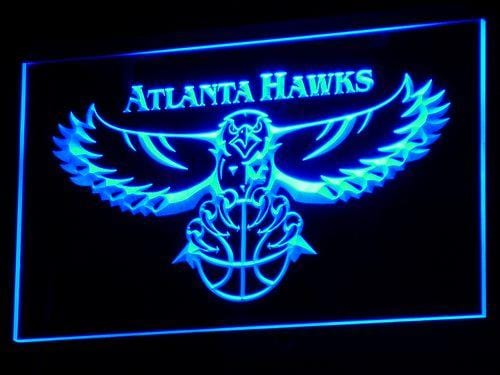 Atlanta Hawks Basketball LED Neon Sign b001 - Blue