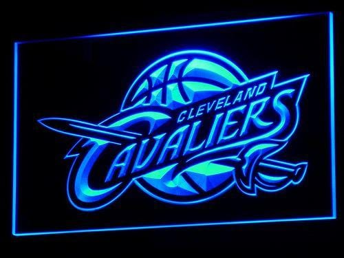 Cleveland Cavaliers Basketball NBA LED Neon Sign b005 - Blue
