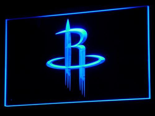 Houston Rockets Basketball NBA LED Neon Sign b010 - Blue