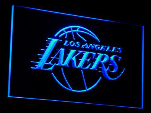 Los Angeles Lakers Basketball NBA LED Neon Sign b013 - Blue