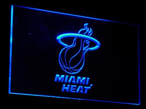 Miami Heat Basketball LED Neon Sign b015 - Blue