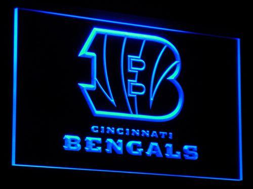 Cincinnati Bengals Football NFL LED Neon Sign b037 - Blue