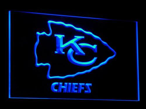 Kansas City Chiefs Football LED Neon Sign b046 - Blue