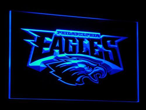 Philadelphia Eagles Football LED Neon Sign b054 - Blue