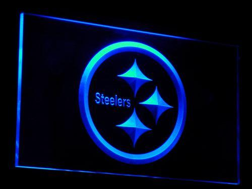 Pittsburgh Steelers Football NFL LED Neon Sign b055 - Blue
