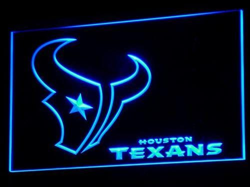 Houston Texans NFL LED Neon Sign b068 - Blue