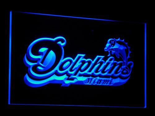 Miami Dolphins 1997-2012 NFL LED Neon Sign b070 - Blue