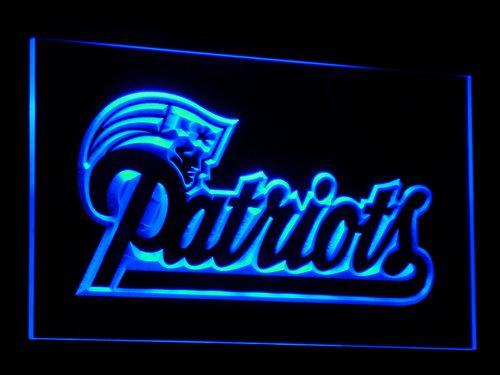 New England Patriots Football LED Neon Sign b071 - Blue