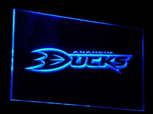 Anaheim Ducks NHL LED Neon Sign b076 - Blue