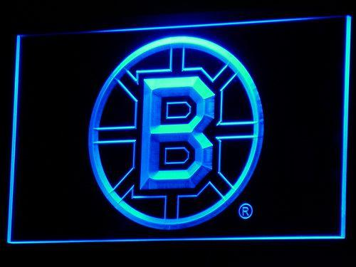 Boston Bruins Hockey LED Neon Sign b078 - Blue