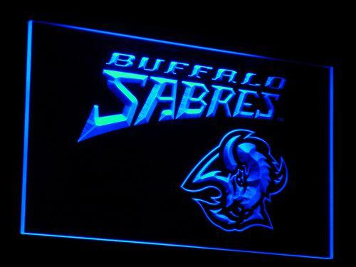 Buffalo Sabres NHL LED Neon Sign b079 - Blue