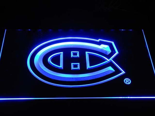 Montreal Canadiens Hockey LED Neon Sign b091 - Blue
