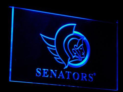 Ottawa Senators NHL LED Neon Sign b096 - Blue