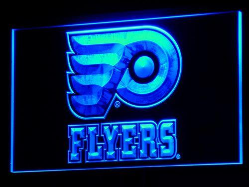 Philadelphia Flyers NHL LED Neon Sign b097 - Blue