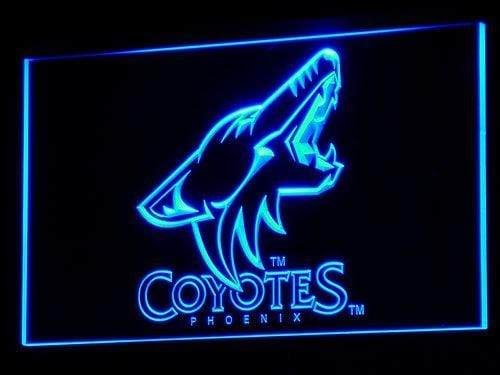 Arizona Coyotes Hockey LED Neon Sign b098 - Blue