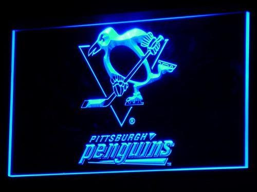 Pittsburgh Penguins Hockey LED Neon Sign b099 - Blue