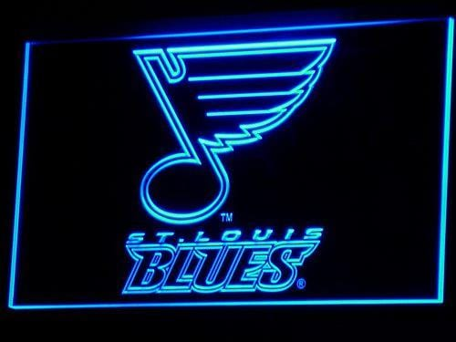 St. Louis Blues Hockey LED Neon Sign b101 - Blue