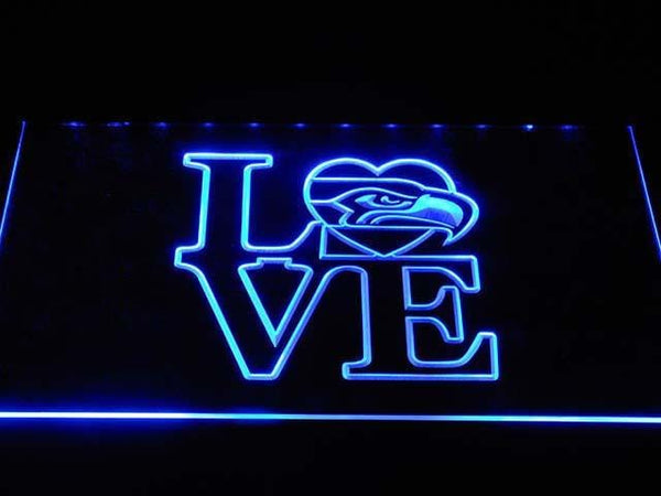 Seattle Seahawks Love LED Neon Sign b1028 - Blue