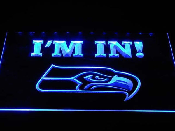 Seattle Seahawks I'M In LED Neon Sign b1032 - Blue