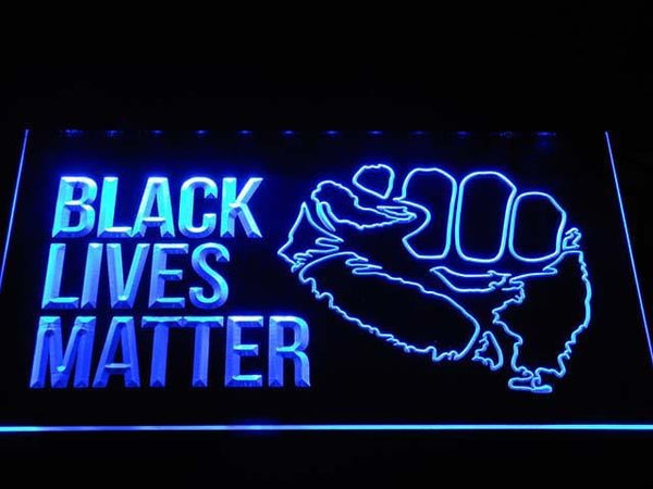 Black Lives Matter Organization LED Neon Sign b1038 - Blue
