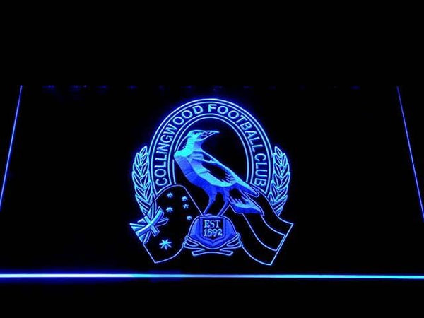 Collingwood AU Football Club LED Neon Sign b1043 - Blue