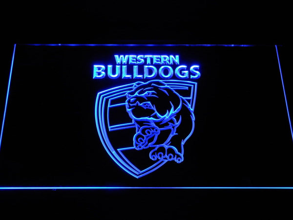 Western Bulldogs AU Football Club LED Neon Sign b1048 - Blue