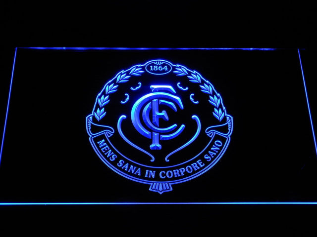Carlton Blues AU Football Club LED Neon Sign b1049 - Blue