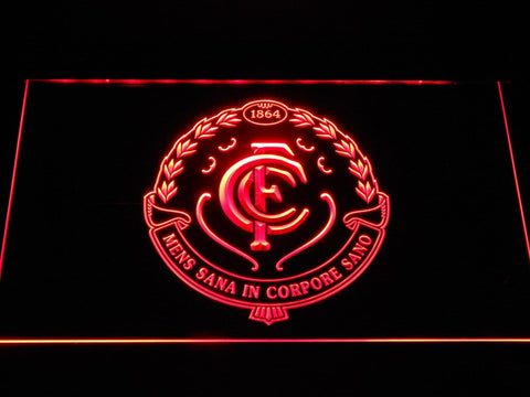 Carlton Blues AU Football Club LED Neon Sign b1049 - Red