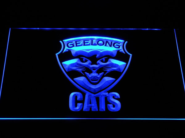 Geelong Cats Football Club AU LED Neon Sign b1052 - Blue