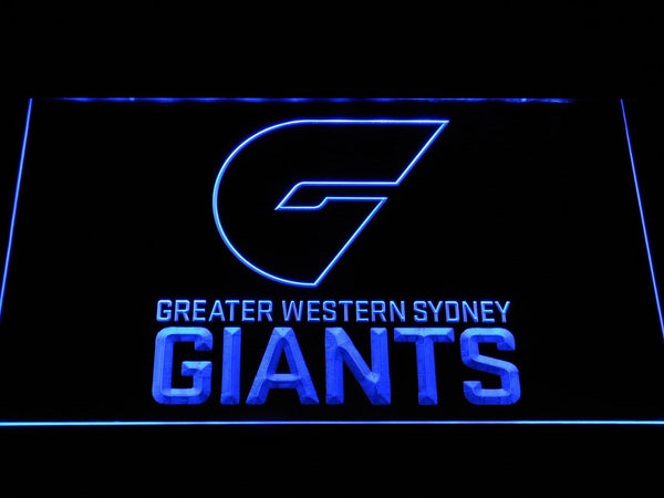 GWS Giants Greater Western Sydney Giants AFL LED Neon Sign b1053 - Blue