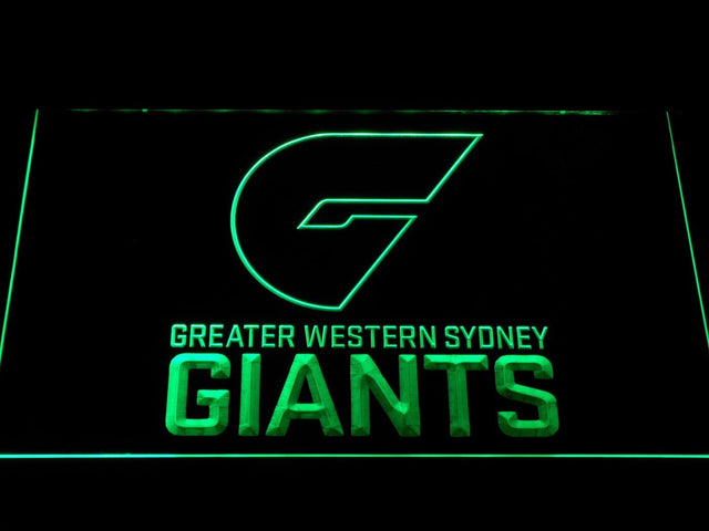 GWS Giants Greater Western Sydney Giants AFL LED Neon Sign b1053 - Green