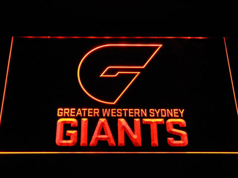 GWS Giants Greater Western Sydney Giants AFL LED Neon Sign b1053 - Orange
