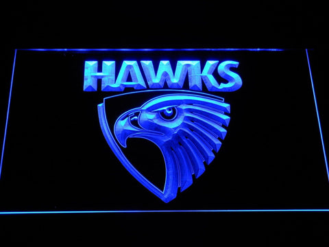 Hawthorn Hawks Australian Football LED Neon Sign b1054 - Blue