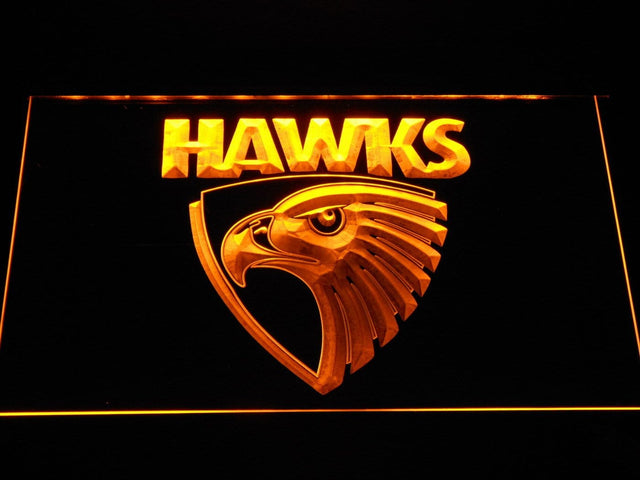 Hawthorn Hawks Australian Football LED Neon Sign b1054 - Yellow