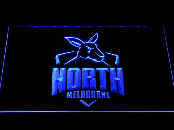 North Melbourne Kangaroos AU Football Club LED Neon Sign b1056 - Blue