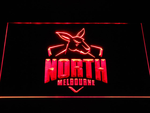 North Melbourne Kangaroos AU Football Club LED Neon Sign b1056 - Red