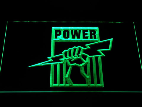 Port Adelaide Power Football LED Neon Sign b1057 - Green