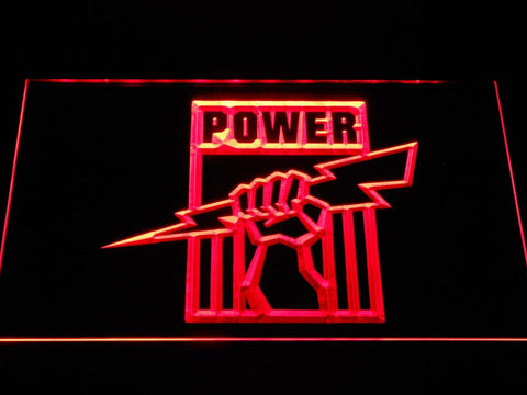 Port Adelaide Power Football LED Neon Sign b1057 - Red