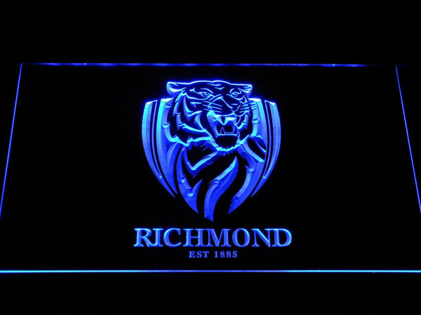 Richmond Tigers AU Football Club LED Neon Sign b1058 - Blue