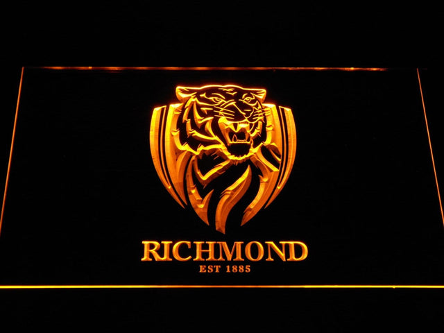 Richmond Tigers AU Football Club LED Neon Sign b1058 - Yellow